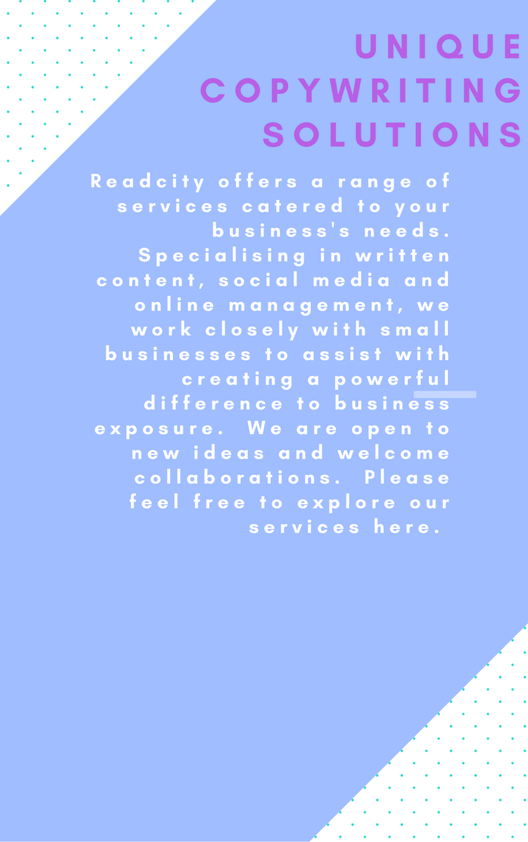 Readcity offers a range of services catered to your business's needs. Specialising in written content, social media and online management, we work closely with small businesses to assist